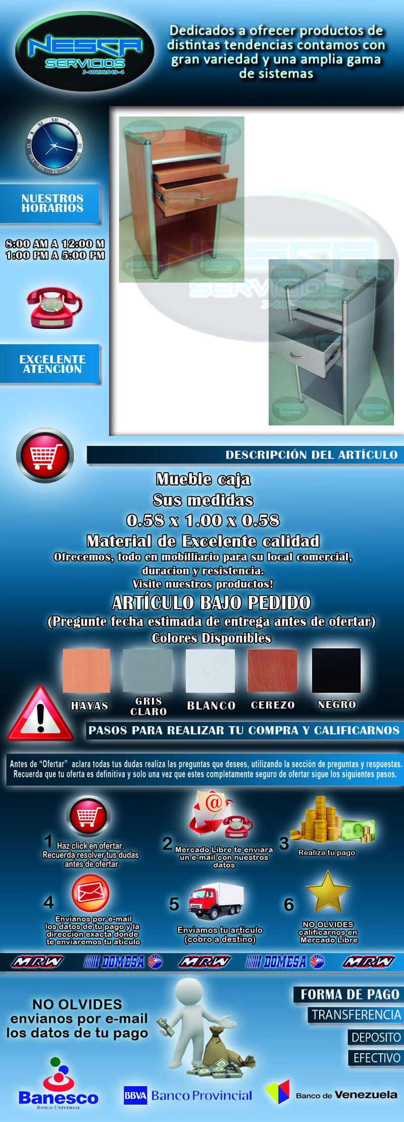 Mueble Caja Registradora Local Comercial Tienda Tmb4040t  Bs 620